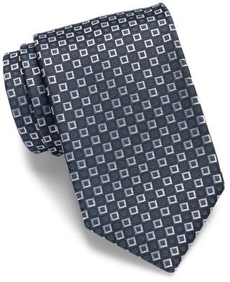 HUGO BOSS Silk Nested Squares Tie $95 thestylecure.com