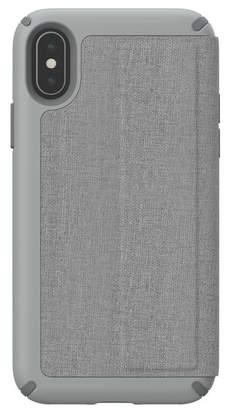 Speck Grey iPhone XS\u002FX Presidio Folio Case