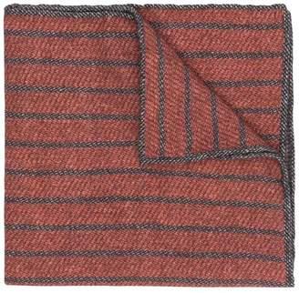 Eleventy striped pattern scarf