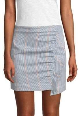 3x1 Jane Ruffled Striped Mini Skirt
