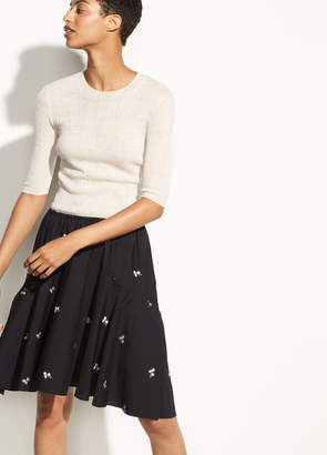 Micro Floral Skirt