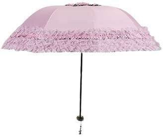 Coxeer Lace Umbrella Parasol Anti-UV Folding Sun Umbrella