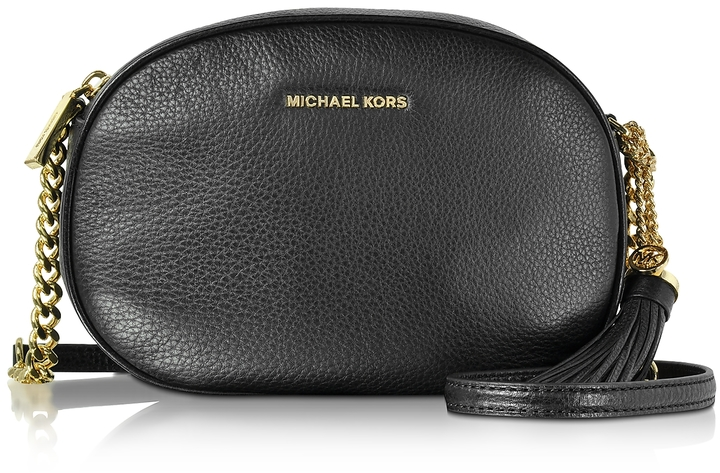 MICHAEL Michael Kors Michael Kors Ginny Black Pebble Leather Medium Messenger