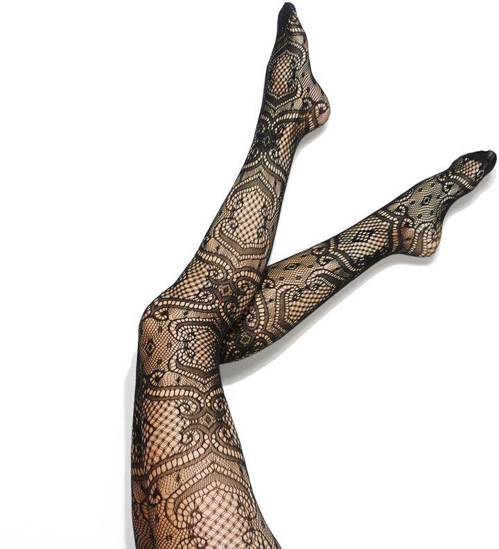 Vera Wang Simply vera brocade net tights