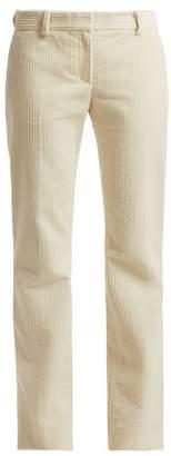 Bella Freud Schoolboy Straight Leg Cotton Corduroy Trousers - Womens - Cream