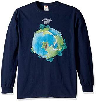Liquid Blue Adult's Yes Fragile Album Cover Long Sleeve Graphic Tee
