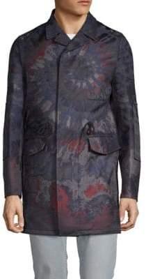 Valentino Textured Notch Lapel Cotton Coat