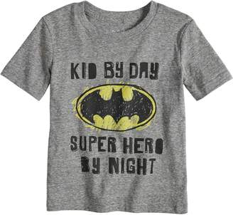 Justice Toddler Boy Jumping Beans DC Comics Batman Heathered Graphic Tee