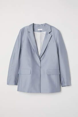H&M Silk-blend Jacket - Gray