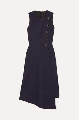 ADAM by Adam Lippes Asymmetric Wrap-effect Denim Dress - Navy