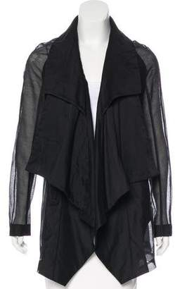 MA Julius Draped Long Sleeve Jacket