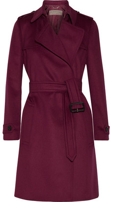 Burberry - Tempsford Cashmere Trench Coat - Crimson $2,595 thestylecure.com