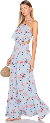 House of Harlow x REVOLVE Zoe Halter Maxi $218 thestylecure.com