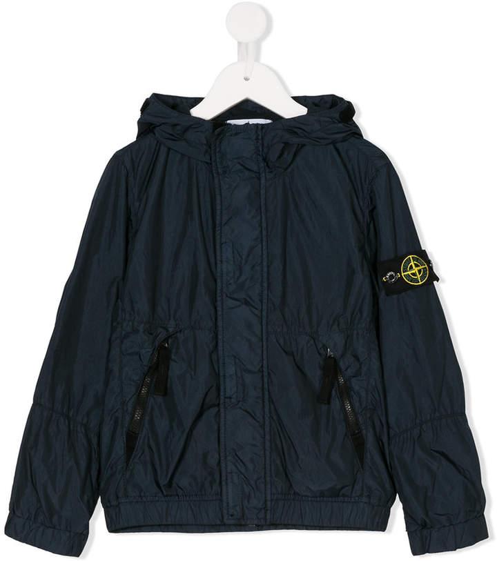 Stone Island Junior hooded rain jacket