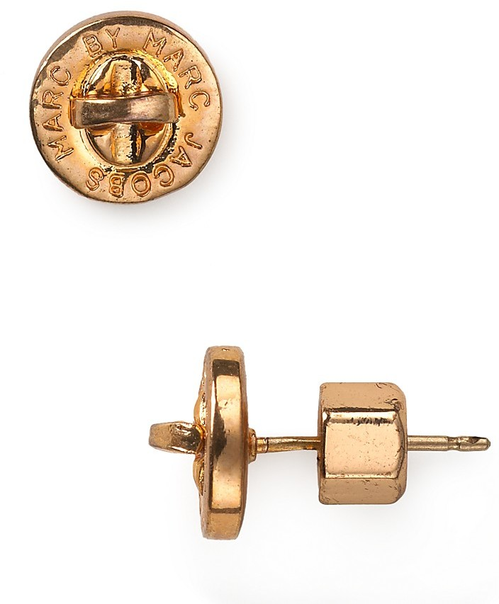 Marc by Marc Jacobs Turnlock Studded Earrings
