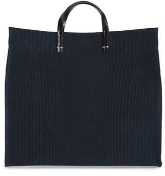 Clare V. 'Marine Rope Simple' Woven Suede Tote $485 thestylecure.com