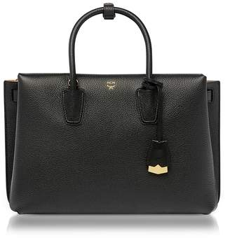 MCM Milla Black Leather Large Tote Bag