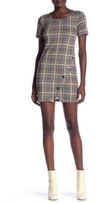 HIATUS Plaid Button Hem Dress