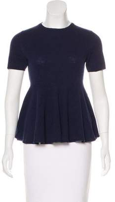 Stella McCartney Short Sleeve Wool Top