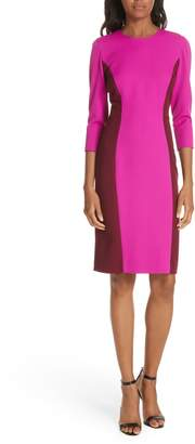 Milly Colorblock Scuba Crepe Body-Con Dress