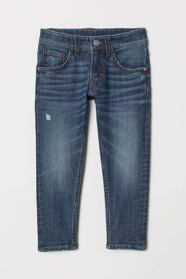 H&M - Relaxed Tapered Fit Jeans - Blue