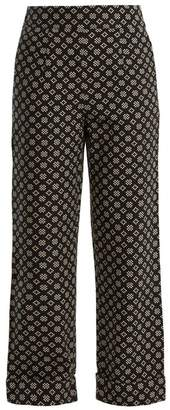 Ace&Jig Annie High Rise Wide Leg Cotton Trousers - Womens - Black White