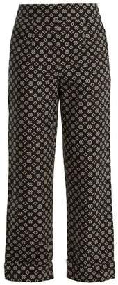 Ace & Jig - Annie High Rise Wide Leg Cotton Trousers - Womens - Black White