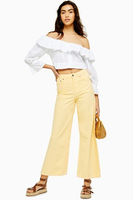 Topshop Yellow Crop Jeans
