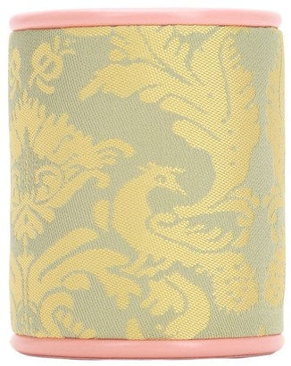 Antico Setificio Fiorentino PEACOCK SILK DAMASK PEN HOLDER