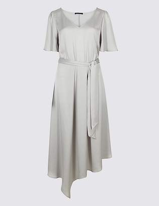 Marks and Spencer Satin Asymmetric Tunic Maxi Dress