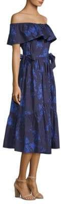 Kate Spade California Dreaming Off-The-Shoulder Midi Dress