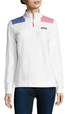 Vineyard Vines American Flag Shep Sweatshirt $125 thestylecure.com
