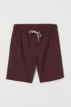 H&M Knee-length Swim Shorts - Red