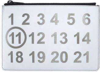 Maison Margiela Silver Number Zip Pouch