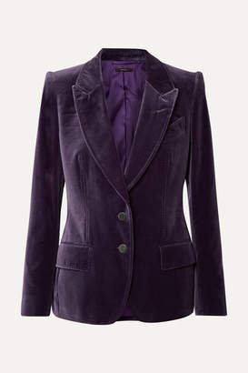 Tom Ford Cotton-velvet Blazer - Purple