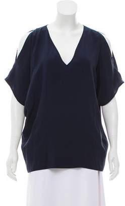 Belstaff Silk Short Sleeve Blouse