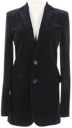 Saint Laurent Blue Velvet Jackets