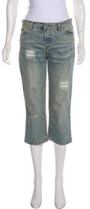 Dolce & Gabbana High-Rise Distressed Jeans