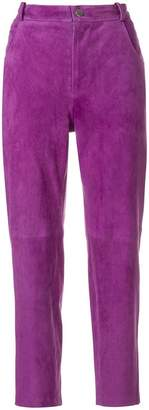 Roseanna cropped suede trousers