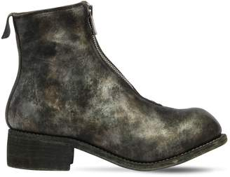 Pl1 Zip-Up Full Grain Leather Boots