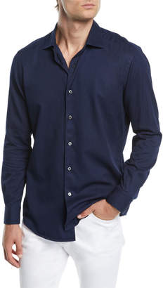 Ermenegildo Zegna Men's Denim-Style Sport Shirt