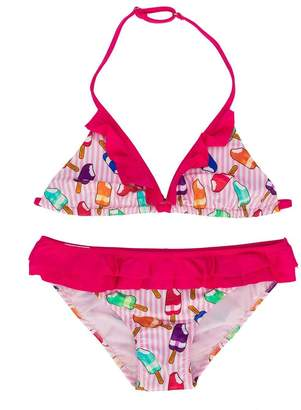 MC2 Saint Barth Kids TEEN striped printed bikini