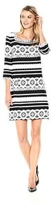 Sandra Darren Women's 1 Pc 3/4 Sleeve Ity Puff Print Sheath Dress