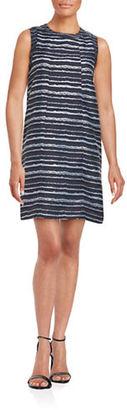 Kensie Graphic-Stripe Jersey Shift Dress $109 thestylecure.com