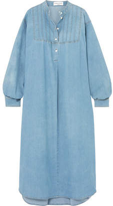 Sonia Rykiel Oversized Cotton-blend Chambray Midi Dress