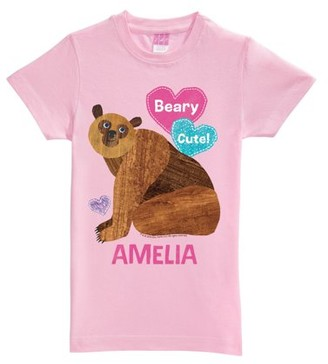 Brown Bear Beary Cute Pink Fitted Toddler Tee