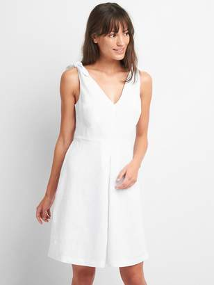 Gap Sleeveless Tie-Shoulder Dress in Linen