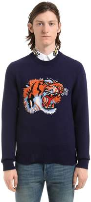 Gucci Tiger Intarsia Wool Knit Sweater