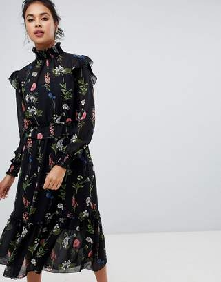 Ted Baker Simarra Florence Midi Long Sleeve Dress