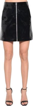 Rag & Bone High Waist Patent Leather Mini Skirt